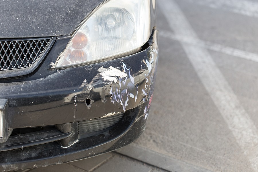 Front End Collision Repair – Watch Out For Suspension Damage and a Cracked Front Windshield!